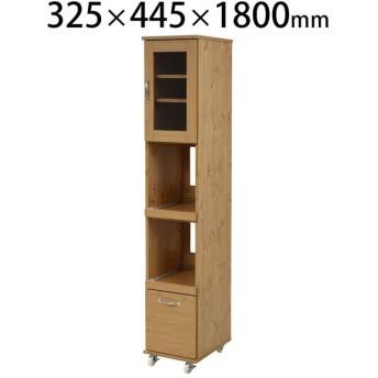 Lycka land スリムキッチンラック 隙間タイプ 幅325×奥行445×高さ1800mm スキマ薄型ラック スリム収納 食器棚