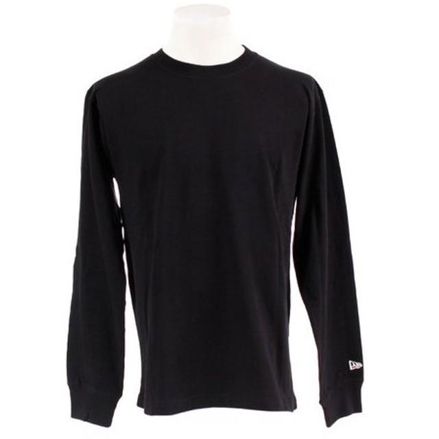 ニューエラ(NEW ERA) 長袖 コットン Tシャツ ズームアップフラッグロゴ バックプリント 11783095 (Men's)