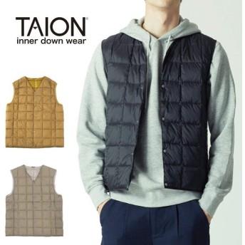 TAION タイオン V ネックボタン インナーダウンベスト TAION-001 【アウトドア/ダウン/アウター/インナー/メンズ】