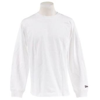 ニューエラ(NEW ERA) 長袖 コットン Tシャツ ズームアップフラッグロゴ バックプリント 11783094 (Men's)