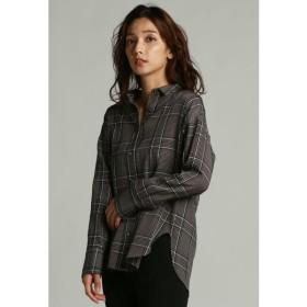 la.f... / オリジナルチェックオーバーロングシャツ