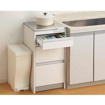 収納物を考えたキッチンカウンター ロータイプ(高さ85cm) 幅44.5cm 702922