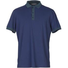 《セール開催中》ANDREA FENZI メンズ ポロシャツ ダークブルー 46 コットン 92% / ポリウレタン 8%