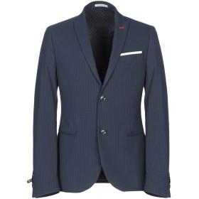 《期間限定セール中》DANIELE ALESSANDRINI メンズ テーラードジャケット ダークブルー 50 コットン 52% / ポリエステル 33% / レーヨン 14% / ポリウレタン 1%