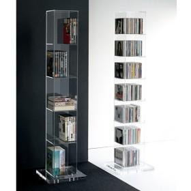 クリアーアクリルシリーズ CDタワー収納 H59012