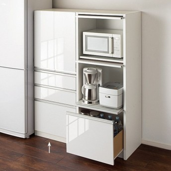 シンプルキッチンストッカー食器棚 高さ150cm 703605
