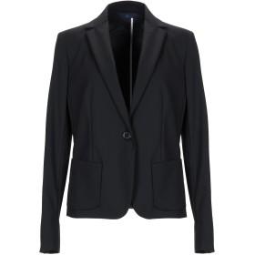 《セール開催中》BLUE LES COPAINS レディース テーラードジャケット ブラック 40 コットン 49% / ナイロン 44% / ポリウレタン 7%