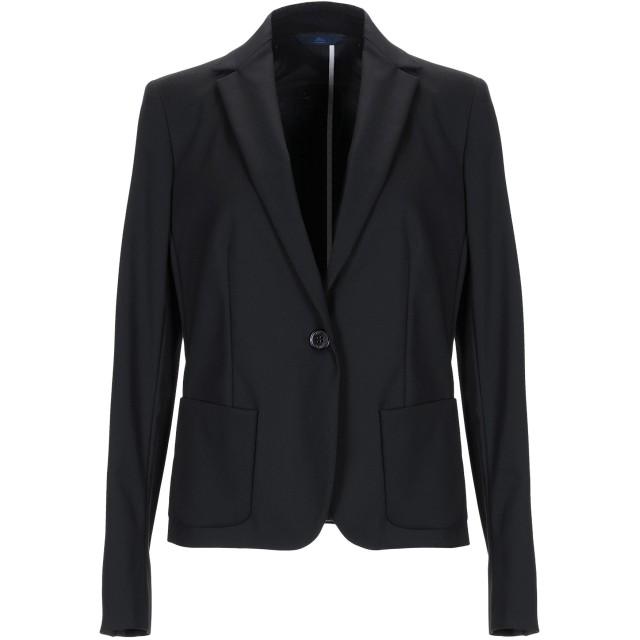 《期間限定セール開催中!》BLUE LES COPAINS レディース テーラードジャケット ブラック 40 コットン 49% / ナイロン 44% / ポリウレタン 7%