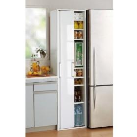 引き戸ですっきり隠せるキッチンストッカー 幅46cm 703510