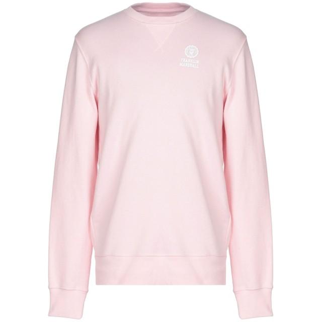 《期間限定 セール開催中》FRANKLIN & MARSHALL メンズ スウェットシャツ ピンク L コットン 50% / ポリエステル 50%
