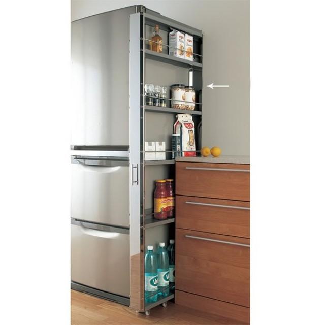 ステンレス製キッチンすき間収納ワゴン ハイタイプ(高さ164cm) 幅10奥行61cm H57704