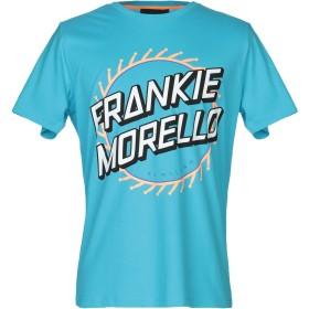 《期間限定セール開催中!》FRANKIE MORELLO メンズ T シャツ ターコイズブルー M コットン 100%