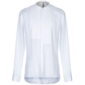 《期間限定 セール開催中》DNL メンズ シャツ ホワイト 42 コットン 100%