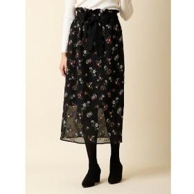 ef-de / エフデ フラワー刺繍シースルースカート