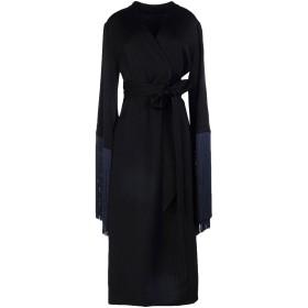 《セール開催中》ELLERY レディース 7分丈ワンピース・ドレス ブラック 12 アセテート 80% / ポリエステル 20%
