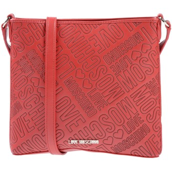 《期間限定セール開催中!》LOVE MOSCHINO レディース メッセンジャーバッグ レッド 紡績繊維