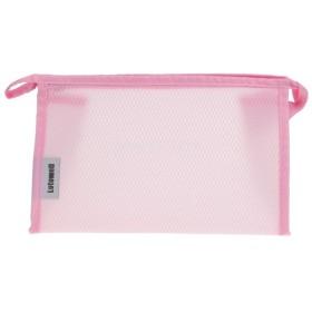 大容量 携帯用 旅行 化粧品 小物入れ ウォッシュ 化粧袋 収納バッグ ケース 全3色 - ピンク