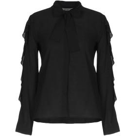 《セール開催中》L' AUTRE CHOSE レディース シャツ ブラック 46 レーヨン 92% / ポリウレタン 8%