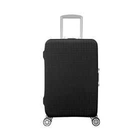 スーツケースカバー キャリーカバー ラゲッジカバー キズから保護 無地伸縮素材 (L, ボタン)
