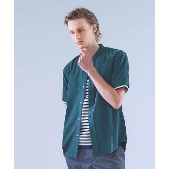 【30%OFF】 アバハウス レーヨンバンドカラーシャツ メンズ グリーン 46 【ABAHOUSE】 【セール開催中】
