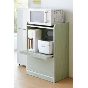 キッチン収納ミニ食器棚シリーズ レンジ台小(高さ90.5cm) 660329