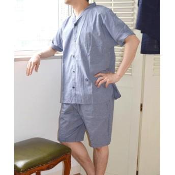 【30%OFF】 シップス Villon'd:チェックサマーパジャマ 1 メンズ ネイビー S~M 【SHIPS】 【セール開催中】