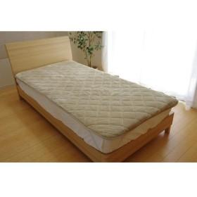 敷きパッド シングル 洗える 寝具 抗菌 消臭 無地 旭化成 トップサーモ 17フランIT ベージュ 約100×205cm 代引不可