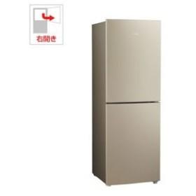 (標準設置 送料無料) ハイアール 218L 2ドア冷蔵庫(ゴールド)(右開き) Haier JR-NF218B-N 返品種別A