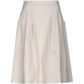 《9/20まで! 限定セール開催中》PESERICO SIGN レディース ひざ丈スカート アイボリー 42 コットン 98% / ポリウレタン 2%