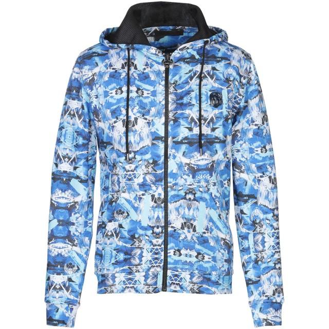 《セール開催中》FRANKIE MORELLO メンズ スウェットシャツ アジュールブルー XL コットン 100%