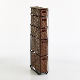 Nelia/ネリア ラタン調すき間ランドリーチェスト ロー高さ120cm 幅17cm H55708