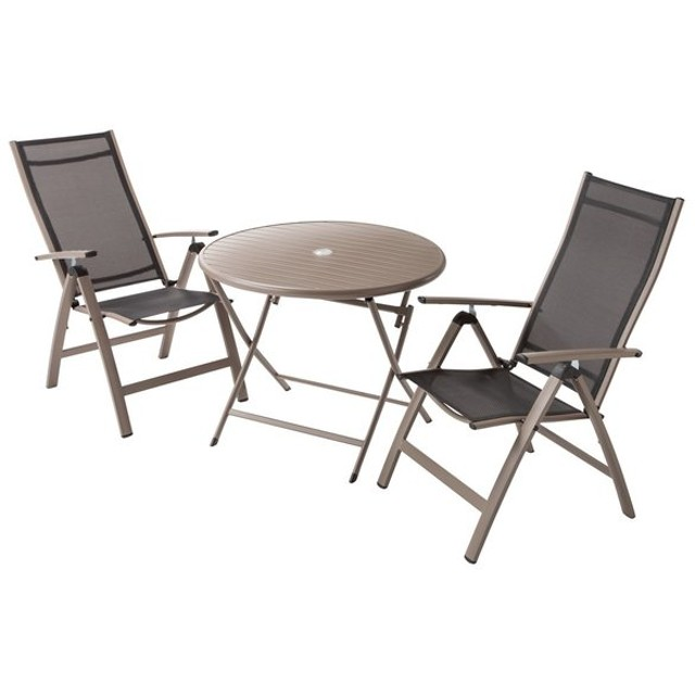 アーバンガーデン テーブル&チェア ラウンド 大 3点セット G62202
