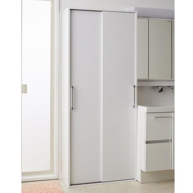 すっきり隠せる薄型引き戸収納庫 幅75cm 687411