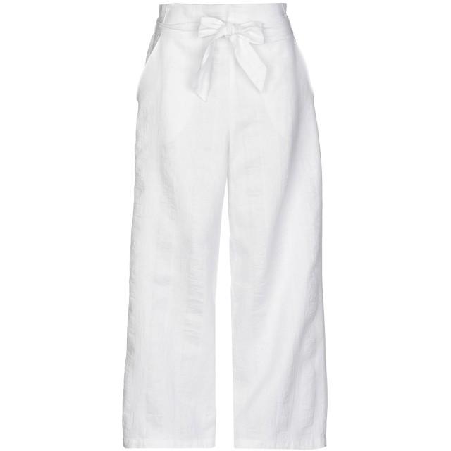 《セール開催中》FLOOR レディース パンツ ホワイト S コットン 47% / 麻 42% / ポリエステル 11%