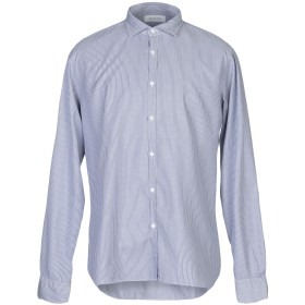 《期間限定セール開催中!》AGLINI メンズ シャツ ブルー 44 コットン 100%