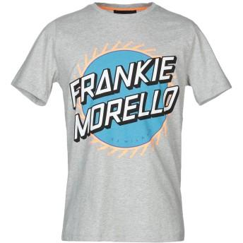 《9/20まで! 限定セール開催中》FRANKIE MORELLO メンズ T シャツ グレー L コットン 100%