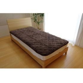 敷きパッド シングル 洗える 寝具 抗菌 消臭 無地 旭化成 トップサーモ 17フランIT ブラウン 約100×205cm 代引不可