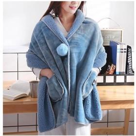 ストール - ZAKZAK ストール ひざ掛け 着る毛布 毛布 防寒 あったかい 軽い 柔らかい 冷房対策 肌にやさしい グレー ブルー グリーン かわいい ファッション 8R73