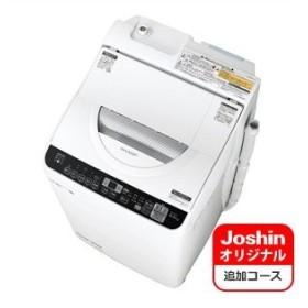 シャープ 5.5kg 洗濯乾燥機 ホワイト系 SHARP 穴なし槽 ES-TX5CのJoshinオリジナルモデル ES-TX5UC-W 返品種別A