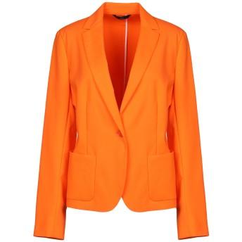 《期間限定セール開催中!》BLUE LES COPAINS レディース テーラードジャケット オレンジ 40 コットン 49% / ナイロン 44% / ポリウレタン 7%