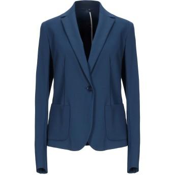 《期間限定セール開催中!》BLUE LES COPAINS レディース テーラードジャケット ブルー 40 コットン 49% / ナイロン 44% / ポリウレタン 7%
