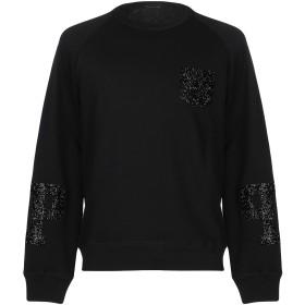 《期間限定 セール開催中》PATRIZIA PEPE メンズ スウェットシャツ ブラック M コットン 100%