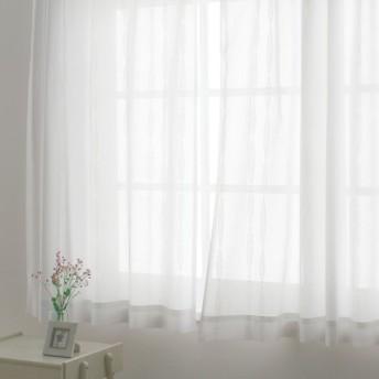 幅200cm×丈108cm(1枚)(形状記憶加工多サイズ・防炎・UV対策レースカーテン) 690483
