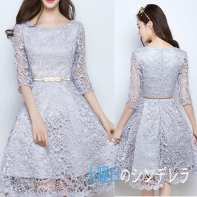 ドレス お呼ばれ 二次会 ワンピース 結婚式 パーティードレス かわいい 披露宴 720 送料無料