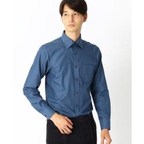 COMME CA ISM / コムサイズム 《イージーケアー・抗菌防臭加工》コットンツイル セミワイドカラー 長袖シャツ