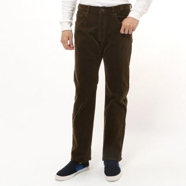 パンツ メンズ ズボン メンズ あったかストレッチコールフリースボンディングパンツ 76〜91  「カーキ」