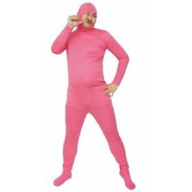 のびのび全身タイツくん コスチューム ピンク 男女共用 Lサイズ 全長192cm
