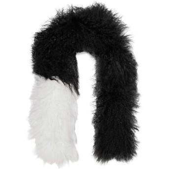 《9/20まで! 限定セール開催中》KARL DONOGHUE レディース マフラー ブラック one size 羊革(ラムスキン) 100% / モンゴリアン