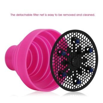 セグビスタイル折りたたみ可能なシリコーンヘアブロー乾燥器附属品(ドライヘア用)、ヘアドライヤー分散用ヒザソフトヘア、携帯用トラベル - ピン