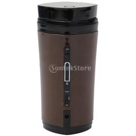 自己攪拌 マグカップ コーヒー 茶 マグ 自動 電気混合カップ 父の日 母の日 誕生日 ギフト プレゼント 全3色   - 褐色
